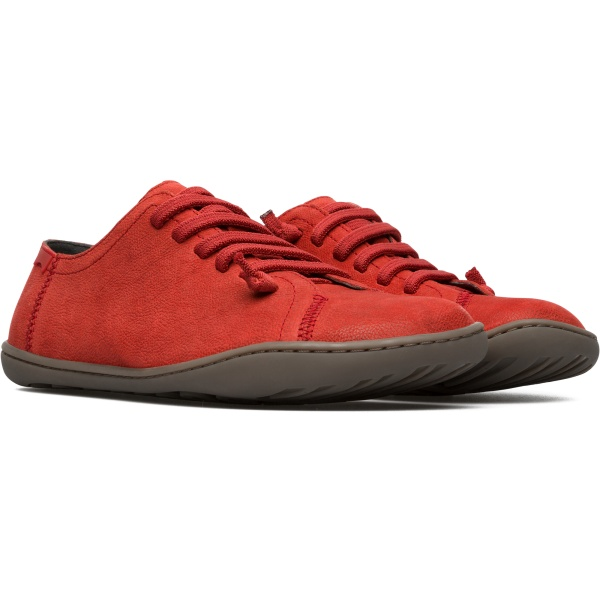 Camper Peu Red Flat Shoes Women 20848-126
