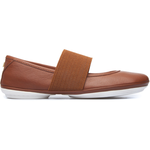 Camper Right Brown Ballerinas Women 21595-089