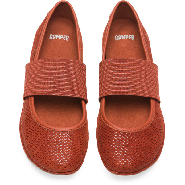 Camper Right Brown Ballerinas Women 21595-135