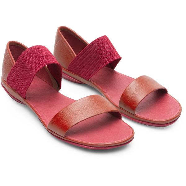 Camper Right Red Sandals Women 21735-057