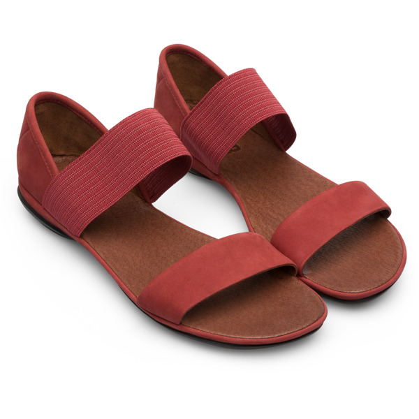 Camper Right Red Sandals Women 21735-065