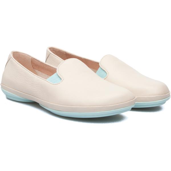 Camper Right Beige Flat Shoes Women 22017-037