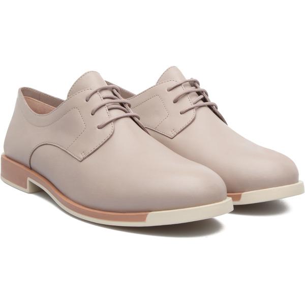Camper Bowie Beige Flat Shoes Women 22101-258
