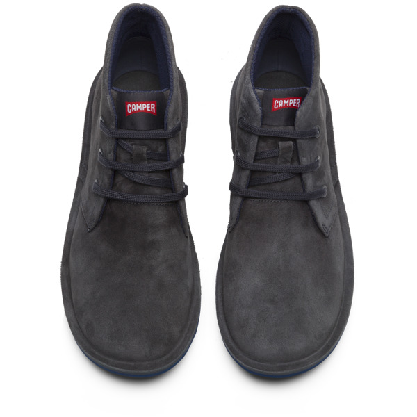 Camper Beetle Grey Ankle Boots Men 36530-055