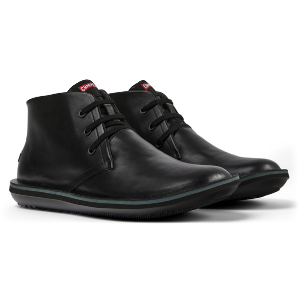 Camper Beetle Black Ankle Boots Men 36530-058