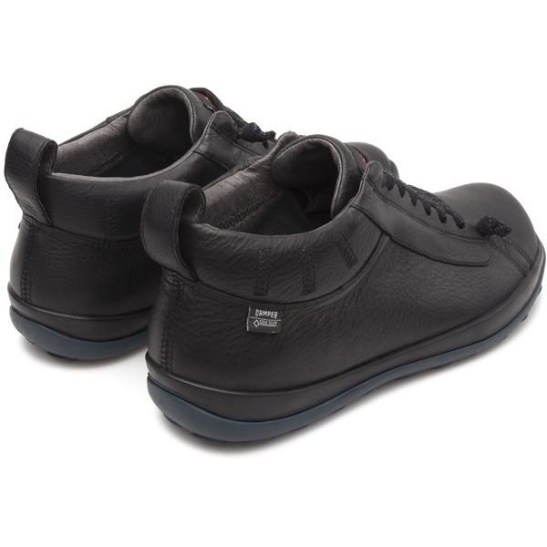 Camper Peu Pista Black Ankle Boots Men 36544-057