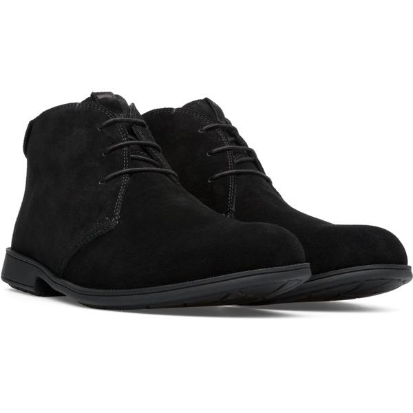 Camper Mil Black Ankle Boots Men 36587-055