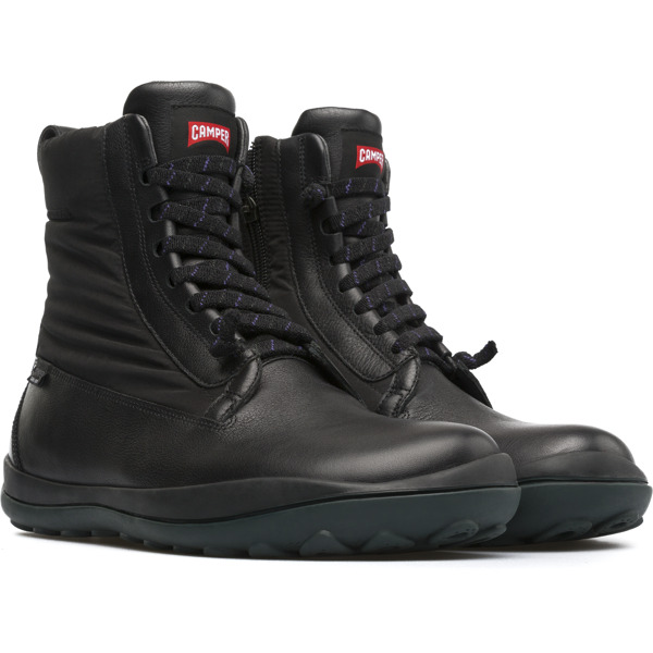 Camper Peu Pista Black Ankle Boots Men 36605-029