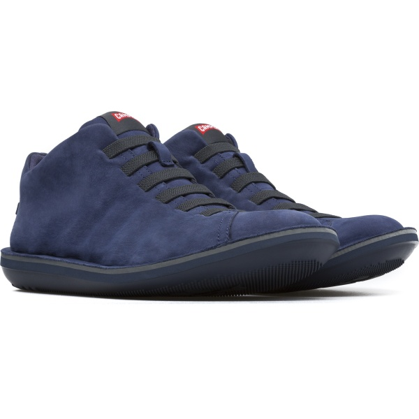 Camper Beetle Blue Ankle Boots Men 36678-042