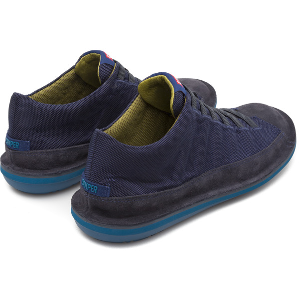 Camper Beetle Blue Ankle Boots Men 36791-035