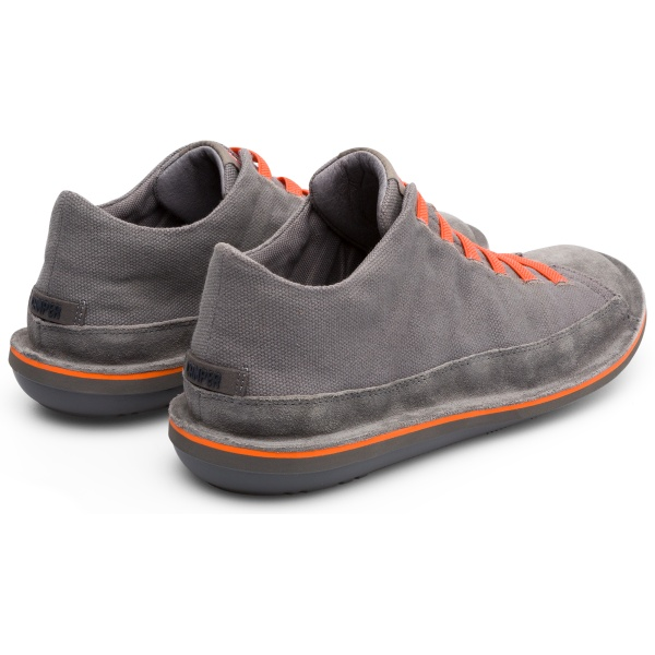 Camper Beetle Grey Ankle Boots Men 36791-047