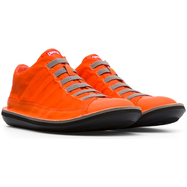 Camper Beetle Orange Ankle Boots Men 36791-049