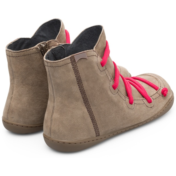 Camper Peu Brown Gray Ankle Boots Women 46104-100