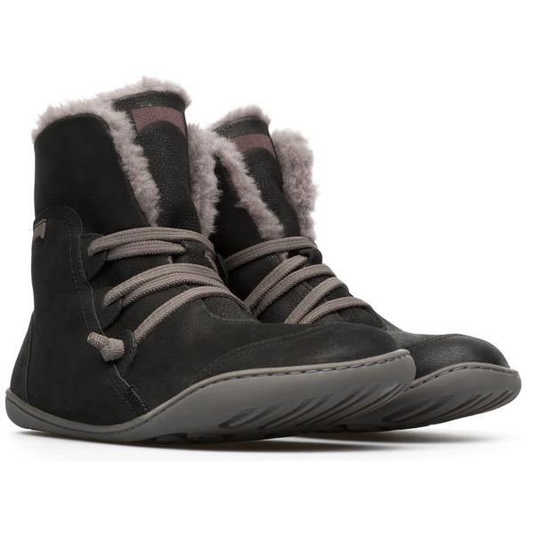 Camper Peu Black Ankle Boots Women 46477-044