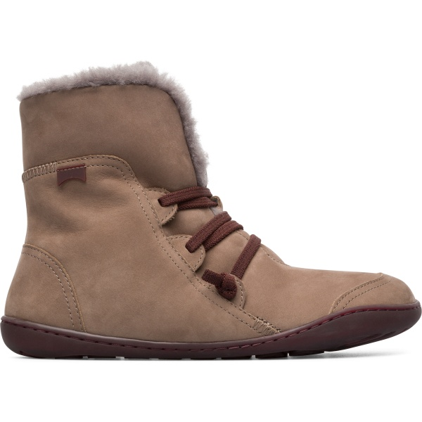 Camper Peu Grey Ankle Boots Women 46477-046
