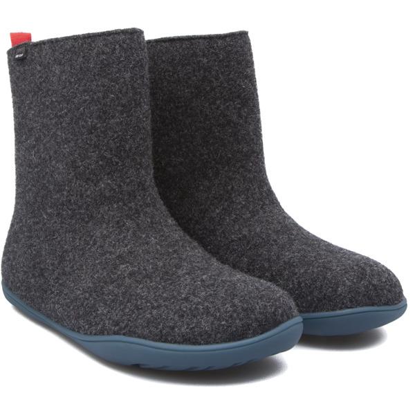 Camper Wabi Grey Ankle Boots Women 46646-027