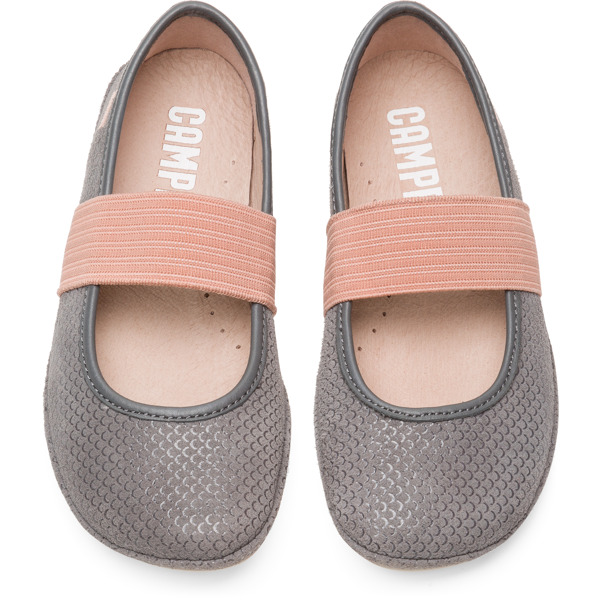 Camper Right Grey Ballerinas Kids 80025-113
