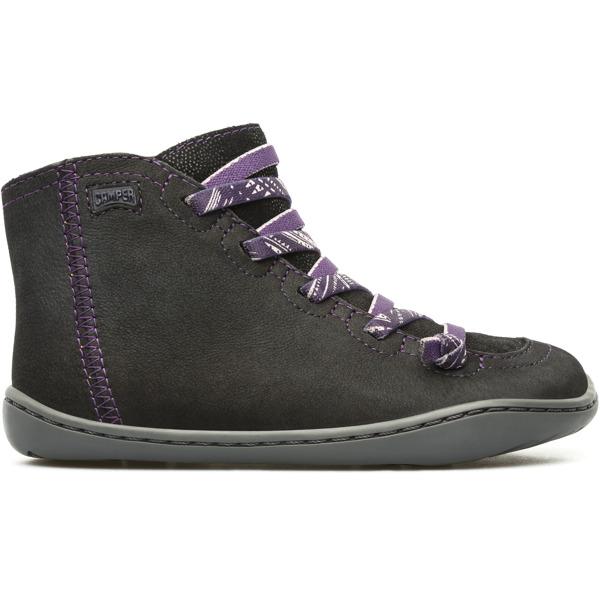 Camper Peu Black Ankle Boots Kids 90085-029