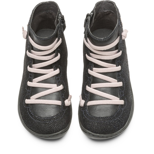 Camper Peu Black Ankle Boots Kids 90085-068