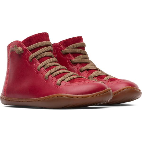 Camper Peu Red Boots Kids 90085-070