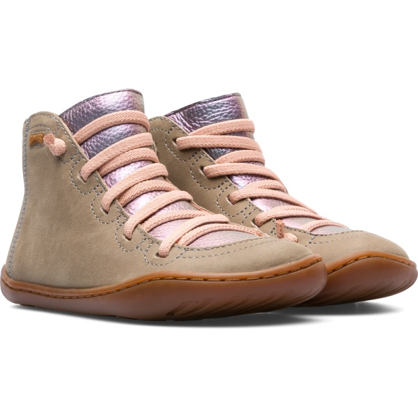 Camper Peu Grey Boots Kids 90085-077