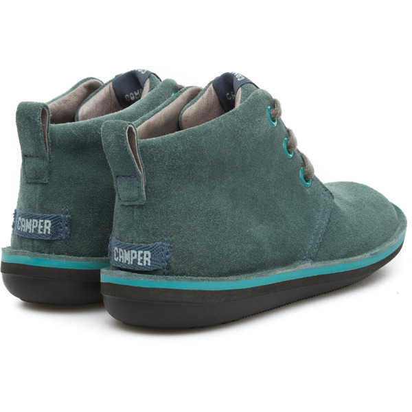 Camper Beetle Green Ankle Boots Kids 90203-040