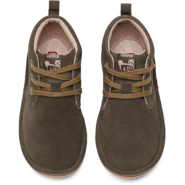 Camper Kids 90203-047 Beetle High Top Brown Suede Boot