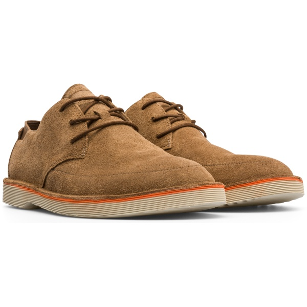 Camper Morrys Brown Formal Shoes Men K100295-011