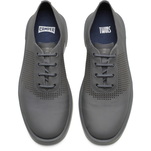 Camper Twins Grey Formal Shoes Men K100429-003