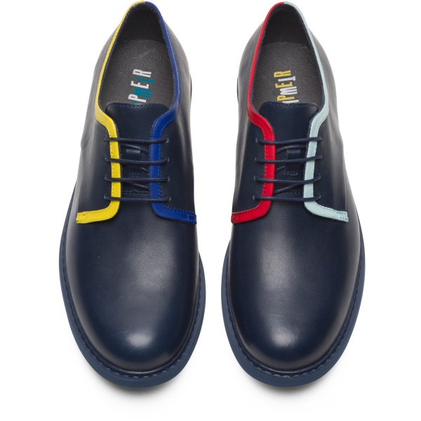 Camper Twins Blue Formal Shoes Men K100496-003
