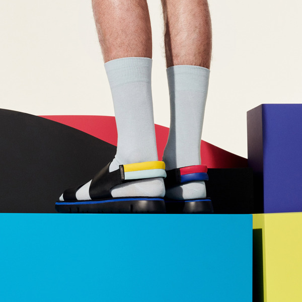 Camper Twins Black Sandals Men K100503-001