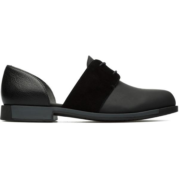 Camper Bowie Black Flat Shoes Women K200202-005