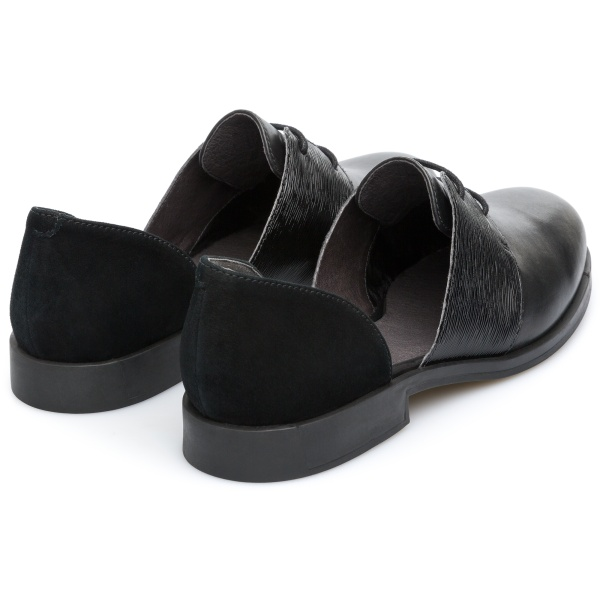 Camper Bowie Black Flat Shoes Women K200202-007