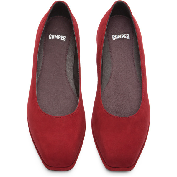Camper Fidelia Red Flat Shoes Women K200222-004