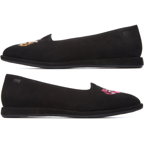 Camper Twins Black Flat Shoes Women K200223-001