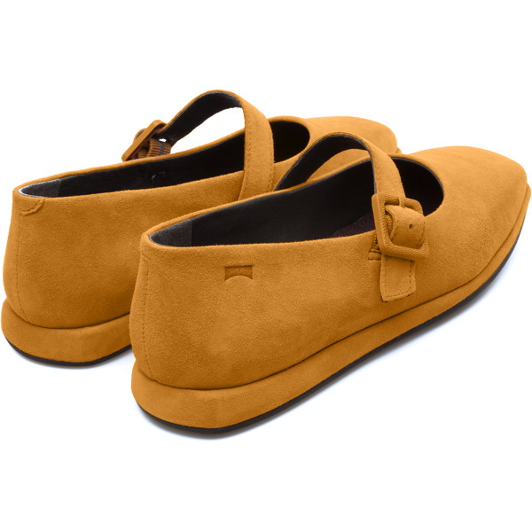 Camper Fidelia Yellow Flat Shoes Women K200226-001