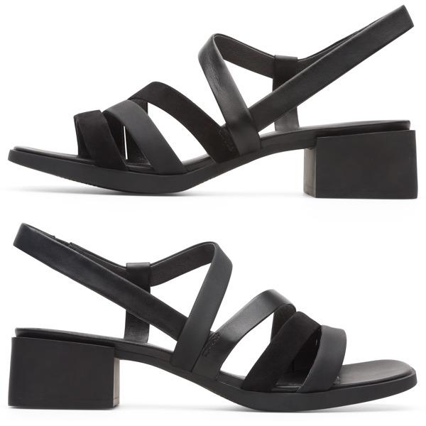 Camper Twins Black Sandals Women K200343-003