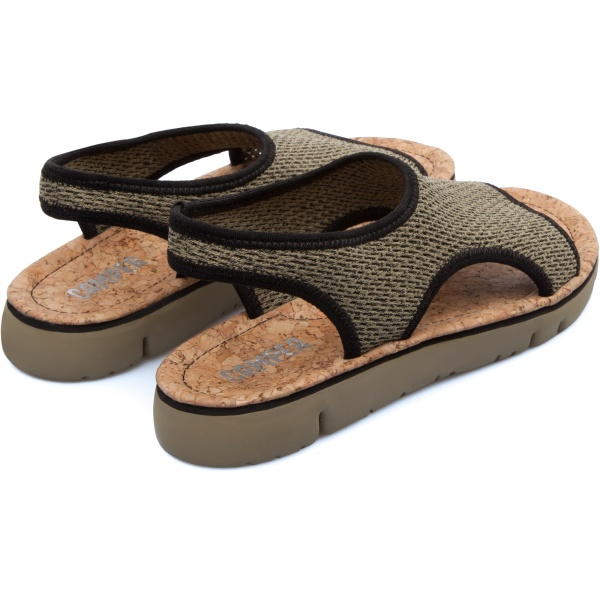 Camper Oruga Green Flat Shoes Women K200360-001