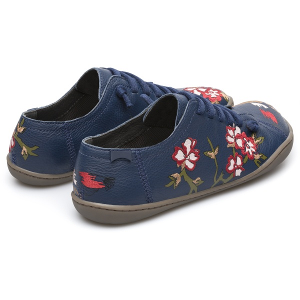 Camper Twins Blue Flat Shoes Women K200517-001