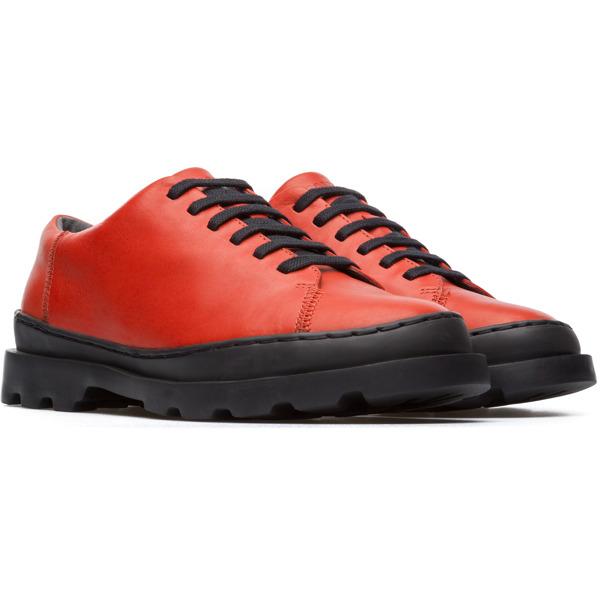 Camper Brutus Red Flat Shoes Women K200551-004
