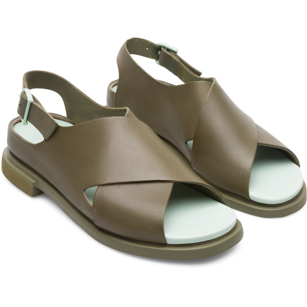 Camper Eda Green Sandals Women K200571-004