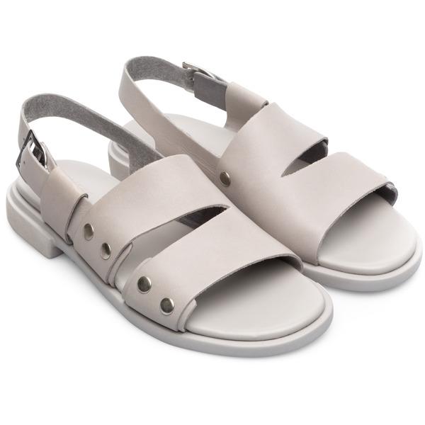 Camper Edy Grey Flat Shoes Women K200574-001
