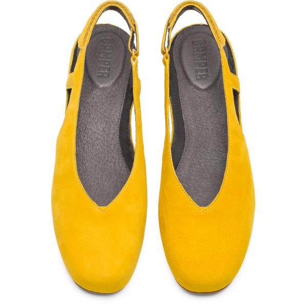 Camper Serena Yellow Flat Shoes Women K200617-002