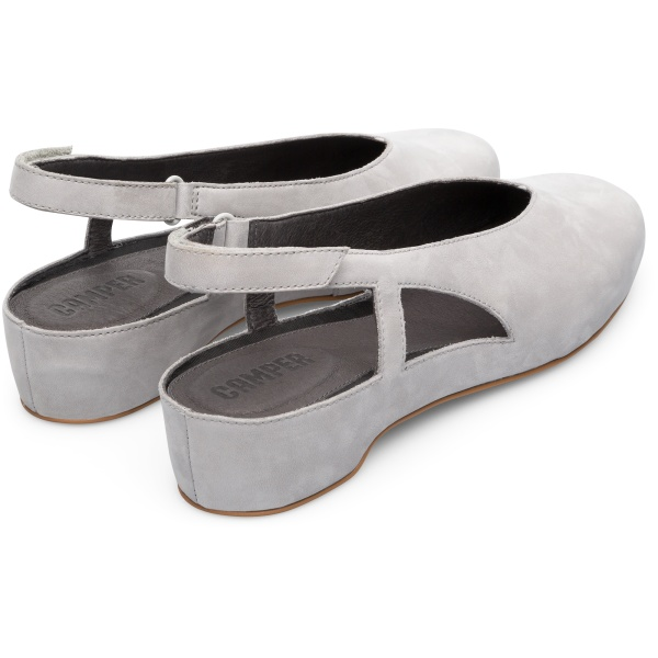 Camper Serena Grey Flat Shoes Women K200617-004