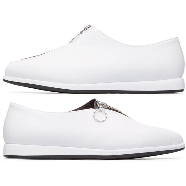 Camper Twins White Flat Shoes Women K200657-001