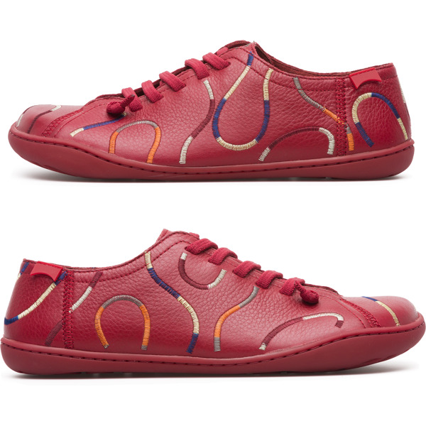 Camper Twins Red Casual Shoes Women K200842-002