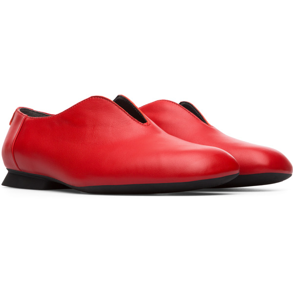 Camper Twins Red Flat Shoes Women K200883-003