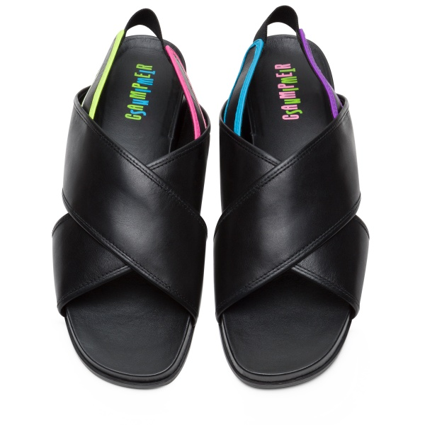 Camper Twins Black Sandals Women K201006-004