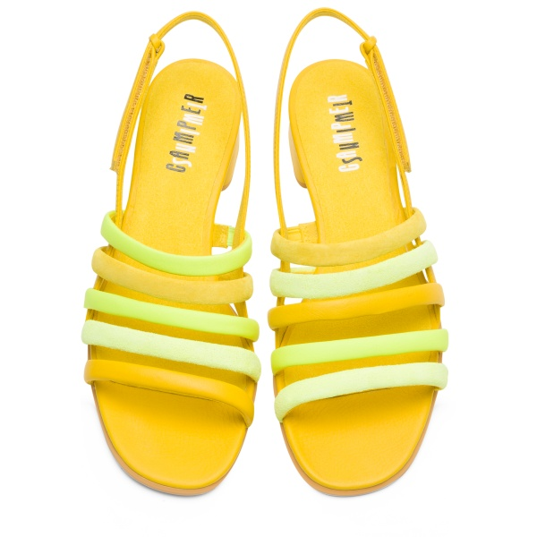 Camper Twins Yellow Sandals Women K201024-002