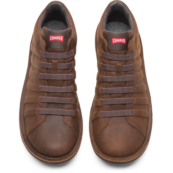Camper Beetle Brown Ankle Boots Men K300005-014